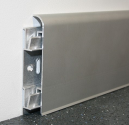 Aluminium Clip On Skirting 70 x 10
