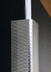 Metal Corner Guard Textured Stainless
